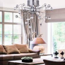 loco chandeliers crystal modern design living 9 lights flush