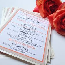 wedding itinerary template for guests destination wedding welcome bag note welcome cards for