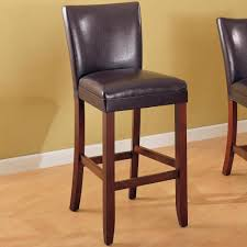 telegraph brown faux leather bar stool chair by coaster 100388
