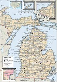 Road Map Of Illinois by State And County Maps Of Michigan