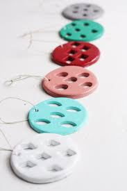 stamped geometric clay christmas ornaments diycandy com