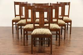 sold set of 8 arts u0026 crafts mission oak 1905 antique dining