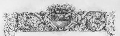 foliated headpiece ornament book illustrations