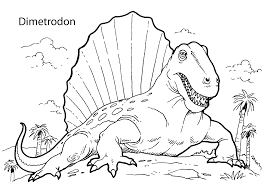 dimetrodon dinosaur coloring pages for kids printable free tegn