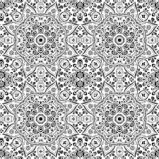 black white mandala repeat