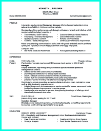 Resume Template Restaurant Manager Resume For Catering Manager Resume For Your Job Application