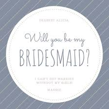 bridesmaid invitation be my bridesmaid invitation templates canva
