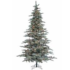7 5 lightly flocked mckinley pine artificial tree