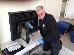 chimney cleaning the fireplace technician