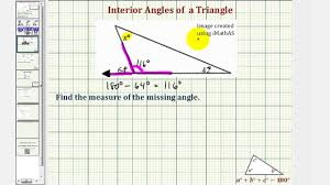Interior Angle Sum Of A Decagon Ex Find The Measure Of An Interior Angle Of A Triangle Using An