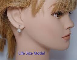 what size diamond earrings should i buy edwardian antique miner mine diamond earrings 18k gold