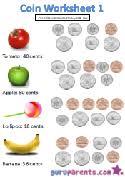 coin worksheets guruparents