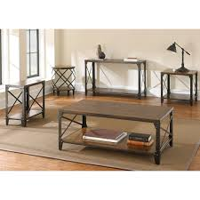 wood and iron sofa table windham solid wood and iron rustic sofa table by greyson living