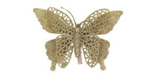 2 48 festive butterfly style christmas tree decoration clip on