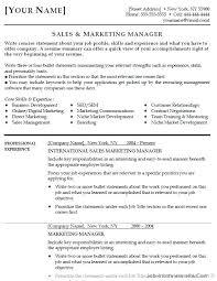 Sales And Marketing Resume Resume Sample Marketing Manager Event Marketing Resume Example