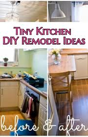 Small Kitchen Makeovers On A Budget - small kitchen diy ideas before u0026 after remodel pictures of tiny