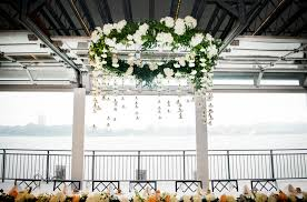 Wedding Chandelier Floral Chandelier For Chelsea Piers Wedding By Blossom