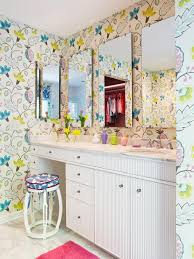 Ideas For A Small Bathroom Makeover Colors Girls U0027 Colorful Bathroom Makeover Rebecca Hawkins Hgtv