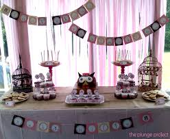 purple owl baby shower decorations baby shower table decorations