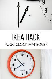ikea clock makeover fun time super easy and free printable