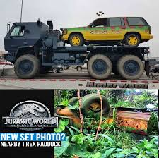 jurassic park car trex jurassic park will be fallen kingdom u0027s prologue jurassicpark
