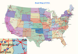 United States Map With States by Road Map Of The Usa With States And Cities My Blog