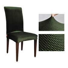 green chair covers jacquard spandex stretch dining chair covers machine washable