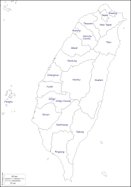 Taiwan Map Asia by Taiwan Free Map Free Blank Map Free Outline Map Free Base Map