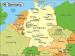 map of countries surrounding germany map of germany and surrounding countries with cities