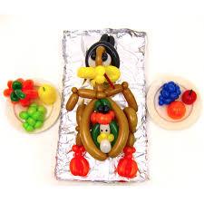 thanksgiving turducken centerpiece balloon animals palm
