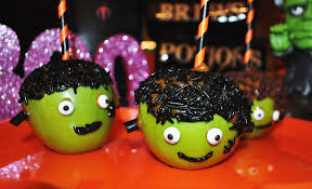 Halloween Party Ideas How To Make Frankenstein Caramel Apples Scratch Recipes For
