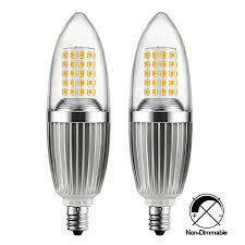 hzsane e12 led candle bulbs 12w 100w incandescent bulbs