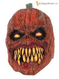 pumpkin mask adults pumpkin mask fancy dress costume accessory scary