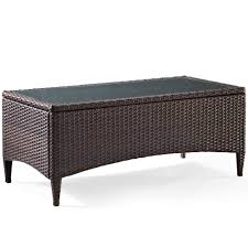 amazon com crosley furniture kiawah outdoor wicker table with