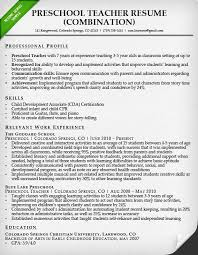 Resume Objective For Preschool Teacher Sample Tutor Resume Template Good Teacher Resume Examples Primary