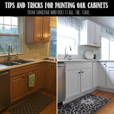 tips tricks for painting oak cabinets painted oak cabinets