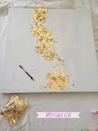 livelovediy how to make gold leaf art round two canvas livelovediy how to make gold leaf art round two
