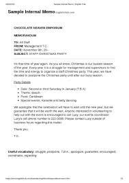 Business Letter Memorandum Example How A Business Memo Is Different From A Business Letter Free