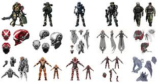 halo series character design showcase howtonotsuckatgamedesign