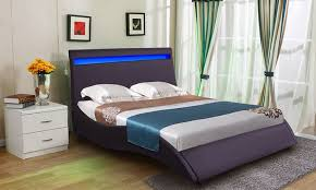 double bed frame with led headboard groupon