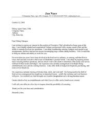sample cover letter for cook cook supervisor cover letter chef