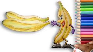 how to a draw a banana easy step by step learn to draw for