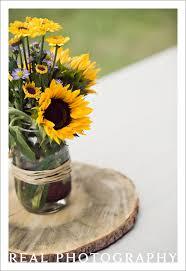 Centerpieces With Sunflowers by Mason Jars U0026 Flowers For Centerpiece Wedding Ideas Pinterest