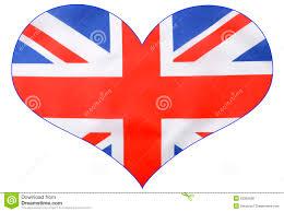 British Flag Shirts Heart Shape British Union Jack Flag Stock Photo Image 55352688