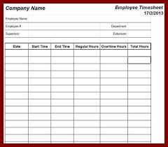 time card template 8 printable time card templates free word