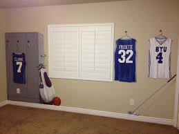 bawden fine murals sports locker jersey themed room