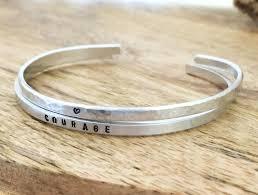 personalized bracelet cuff bracelets set of two personalized bracelets