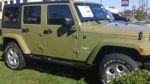 jeep wrangler military 2013 jeep wrangler unlimited sahara commando green branhaven