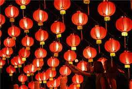 lunar new year lanterns lanterns decorate temple to celebrate new year in kuala