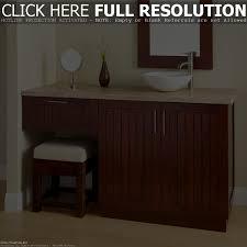60 inch bathroom vanity single sink with makeup area vanity